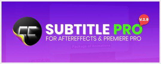 Aescripts Subtitle Pro v2.8