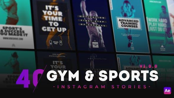 40 GYM & Sports Instagram Story