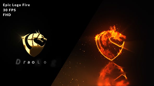 Epic Fire Logo Reveal