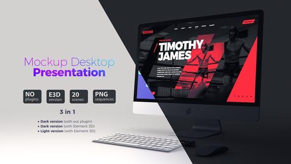 Mockup Desktop // Website Presentation