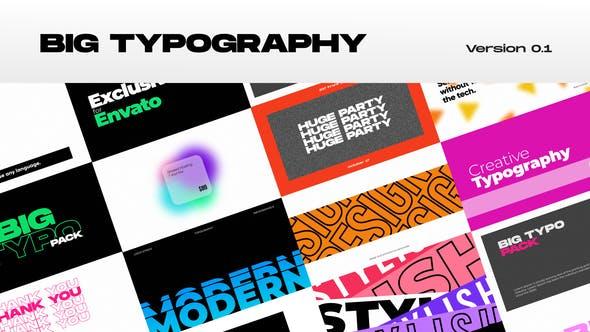 Big Typography – Premiere Pro