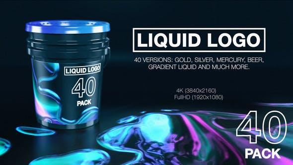 Liquid Logo Reveal (40 in 1 Pack)