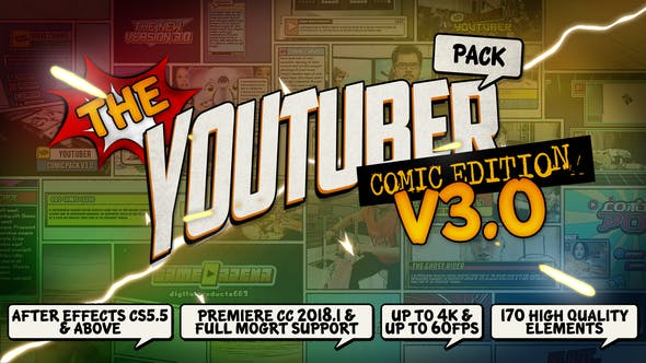 The YouTuber Pack – Comic Edition V3.0