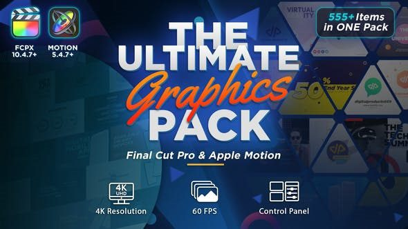 The Ultimate Graphics Pack – Final Cut Pro X & Apple Motion