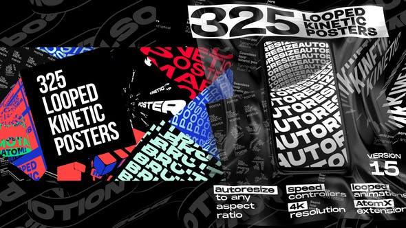 Seamless Loop Kinetic Posters V14