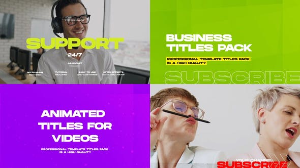 Business Titles and Lower Thirds Pack
