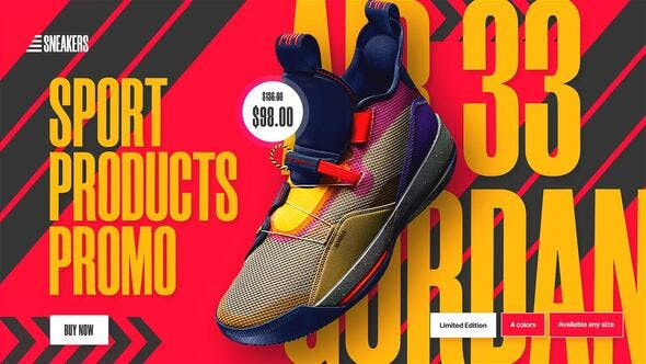 Sport Products Sale Promo   Sneakers