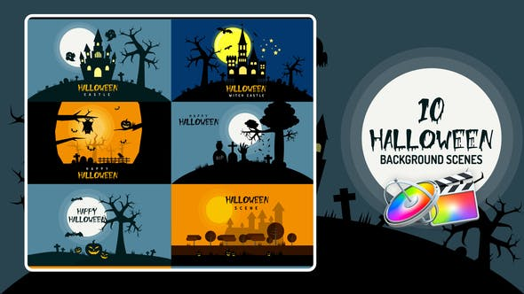 Halloween Background | Apple Motion & FCPX