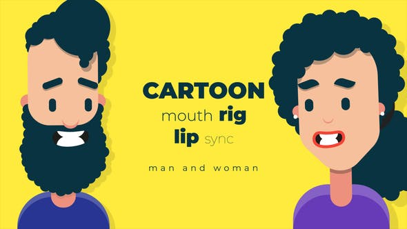 Cartoon mouth rig with lip sync