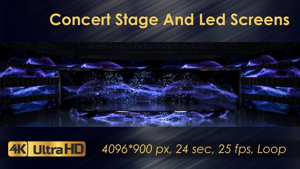 Concert Stage And Led Screens