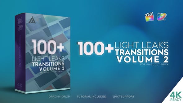 FCPX Light Leaks Transitions Vol 2
